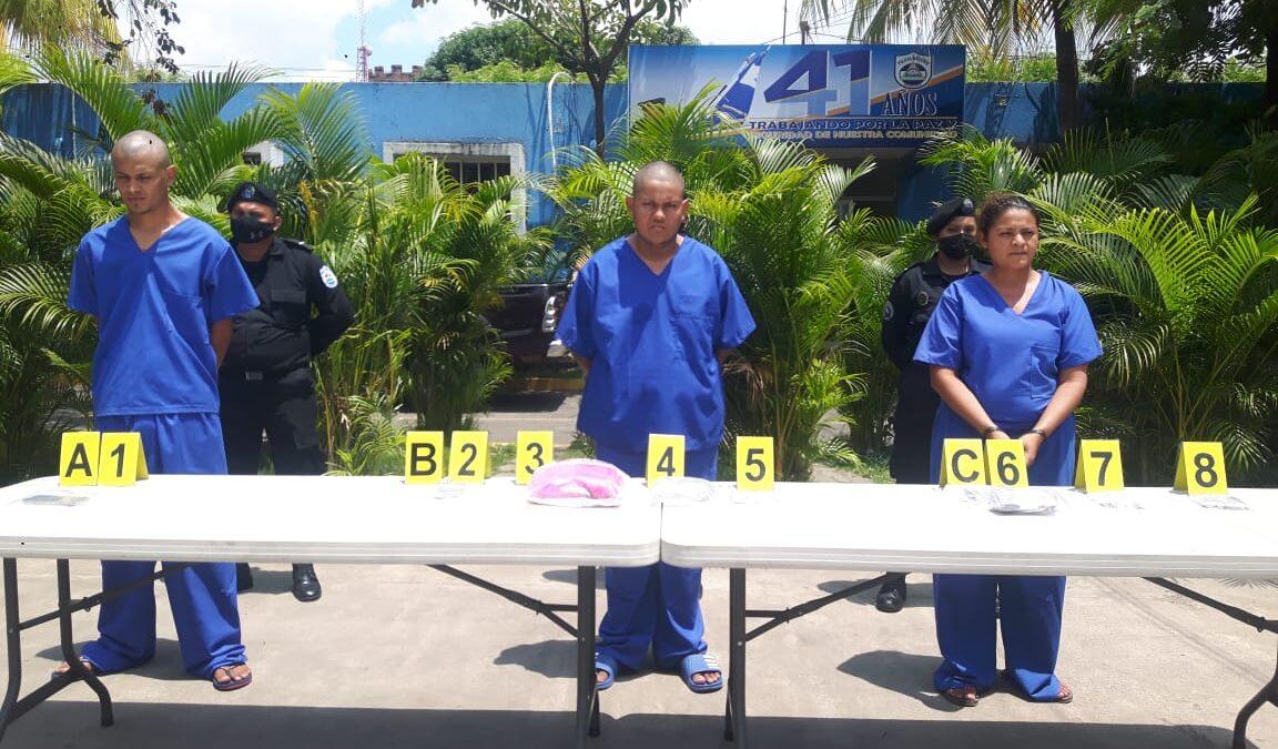 Policía Nacional captura a 12 sujetos, entre ellos una mujer en Chinandega