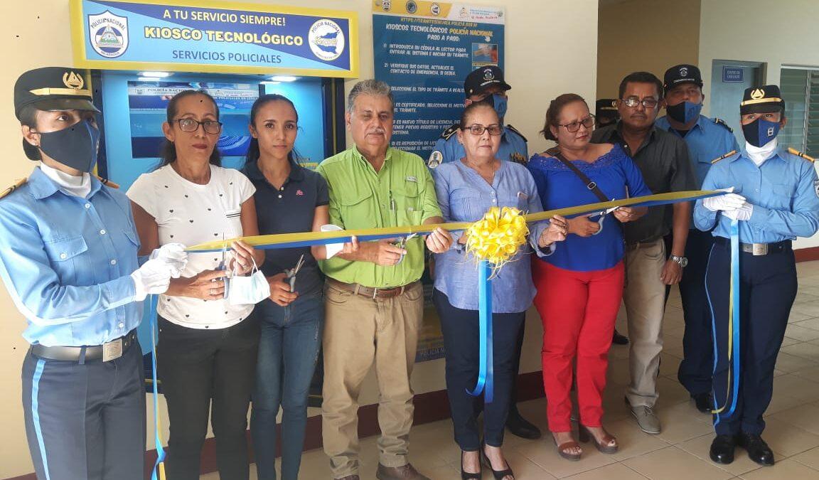 Policía de Somotillo inaugura kiosko tecnológico de servicios policiales