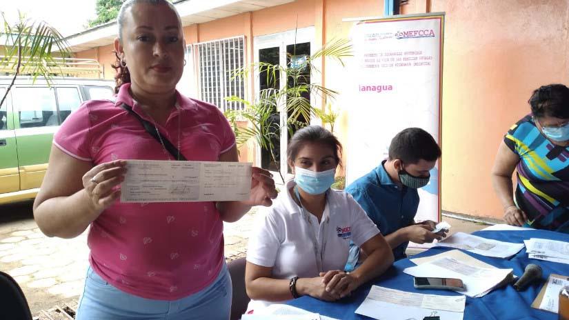 Mefcca desembolsa un millón 524 mil córdobas para 63 emprendedores de Managua