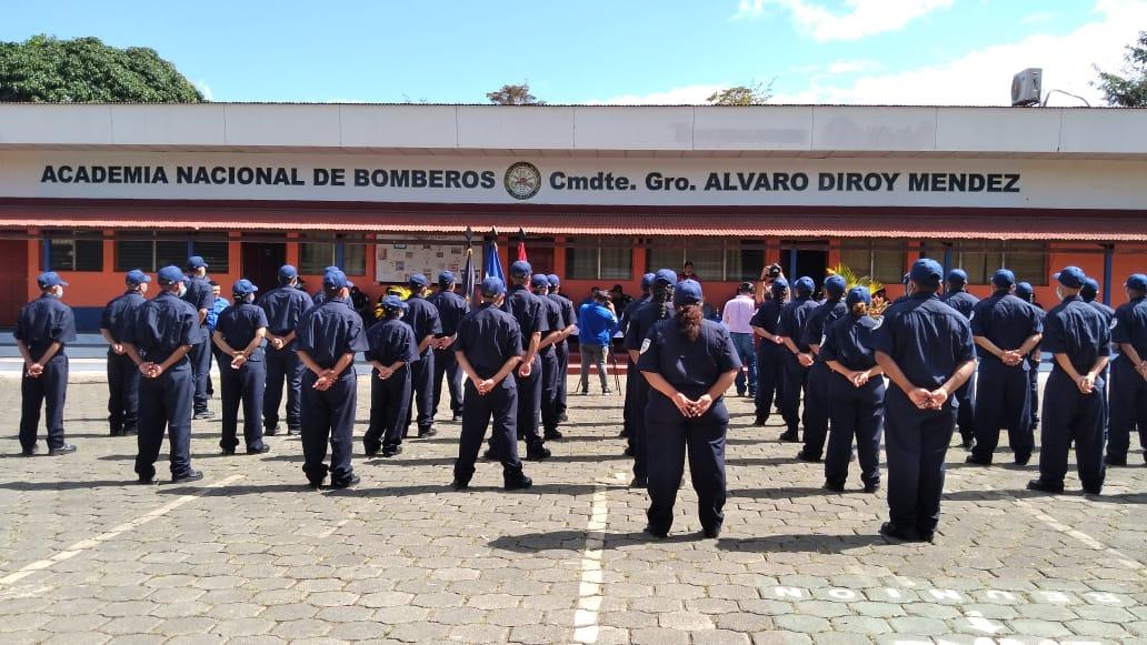 40 nuevos Bomberos al servicio de la población nicaragüense