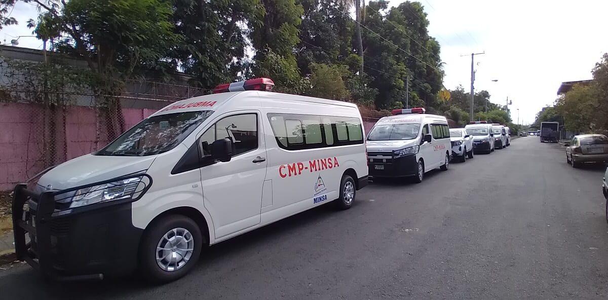 Ambulancias y camioneta nueva tendrán clínicas previsionales de seis municipios de Nicaragua