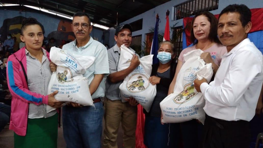 Bonos tecnológicos de café para seis mil familias productoras de Nueva Segovia.