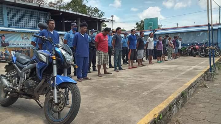 Policía Nacional en Carazo captura a presuntos delincuentes de alta peligrosidad