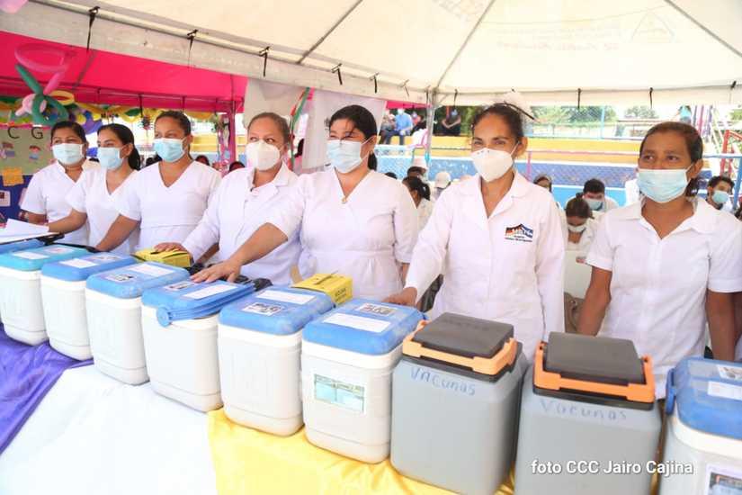 Avanza casi el 70% la Jornada Nacional de Vacunación en Nicaragua