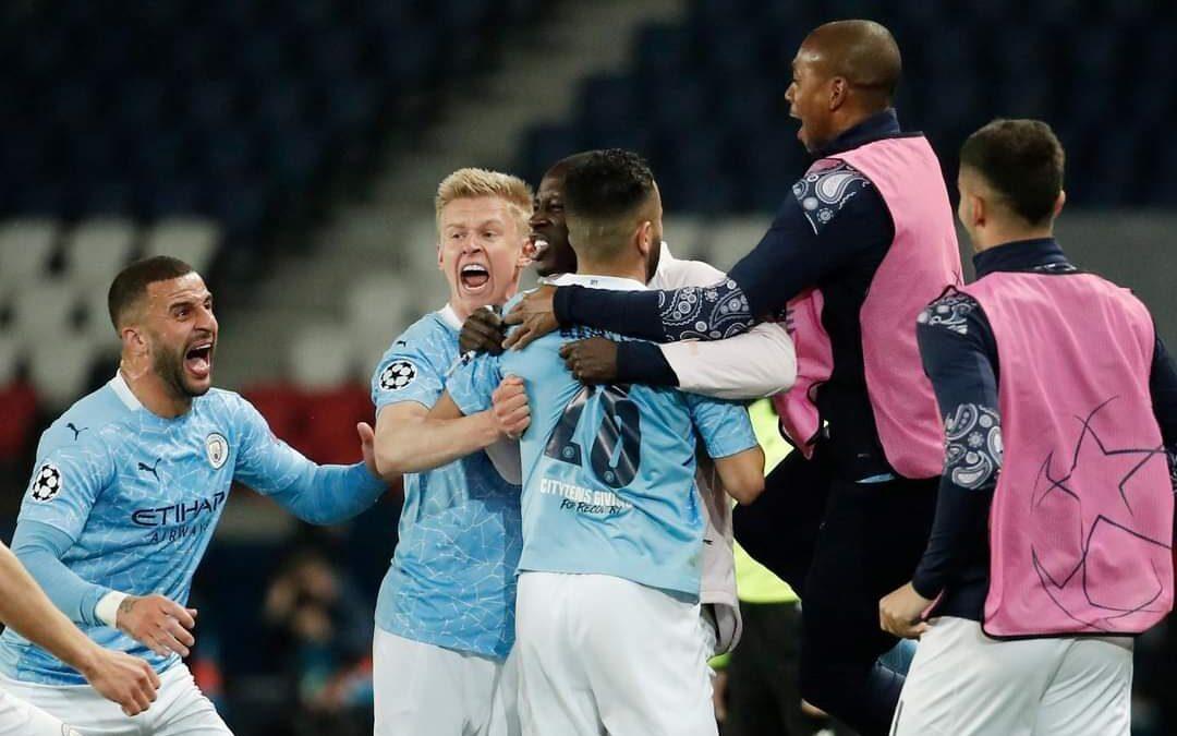 Manchester City vence 2-1 al PSG en la ida de semifinales de la Champions League