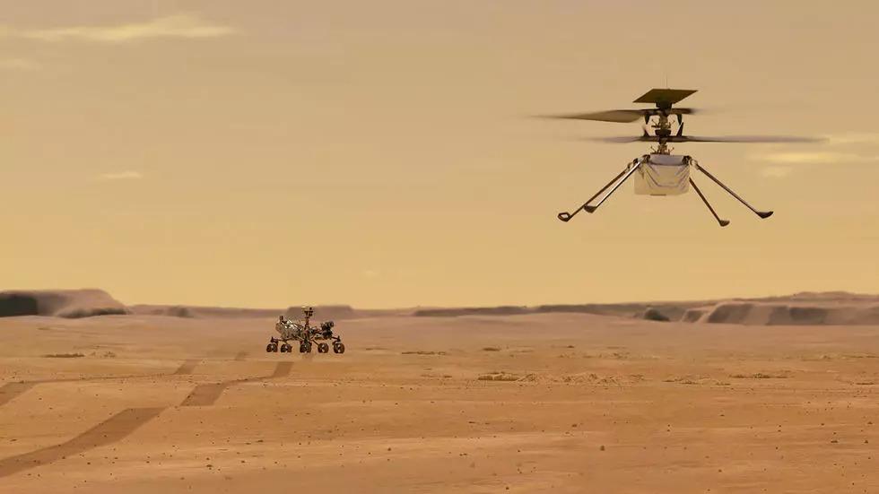 NASA publica parte del recorrido del helicóptero Ingenuity en Marte