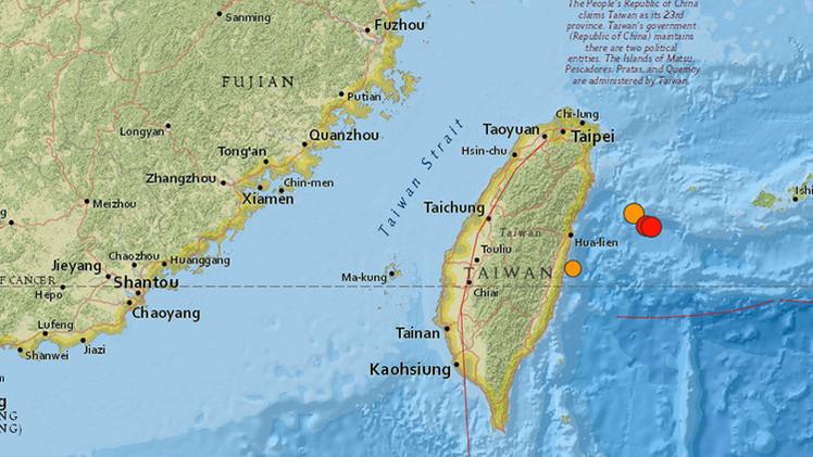 Dos terremotos sacuden el este de Taiwán