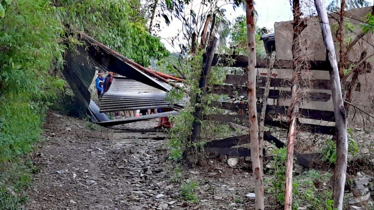 Fuertes lluvias y vientos levantan techos de siete viviendas en Ocotal