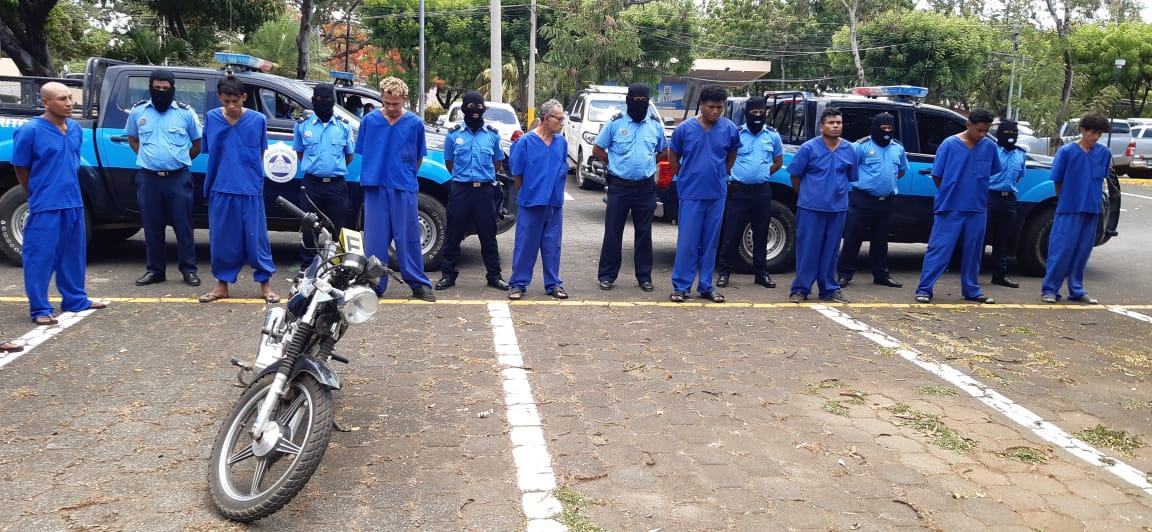 67 delincuentes arrestados por diversos delitos en Nicaragua