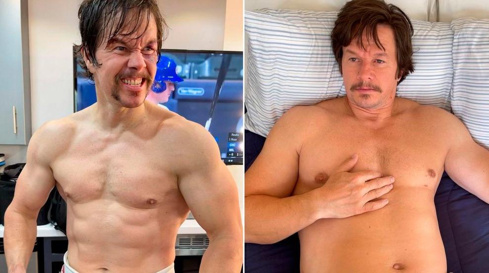 La drástica transformación física de Mark Wahlberg