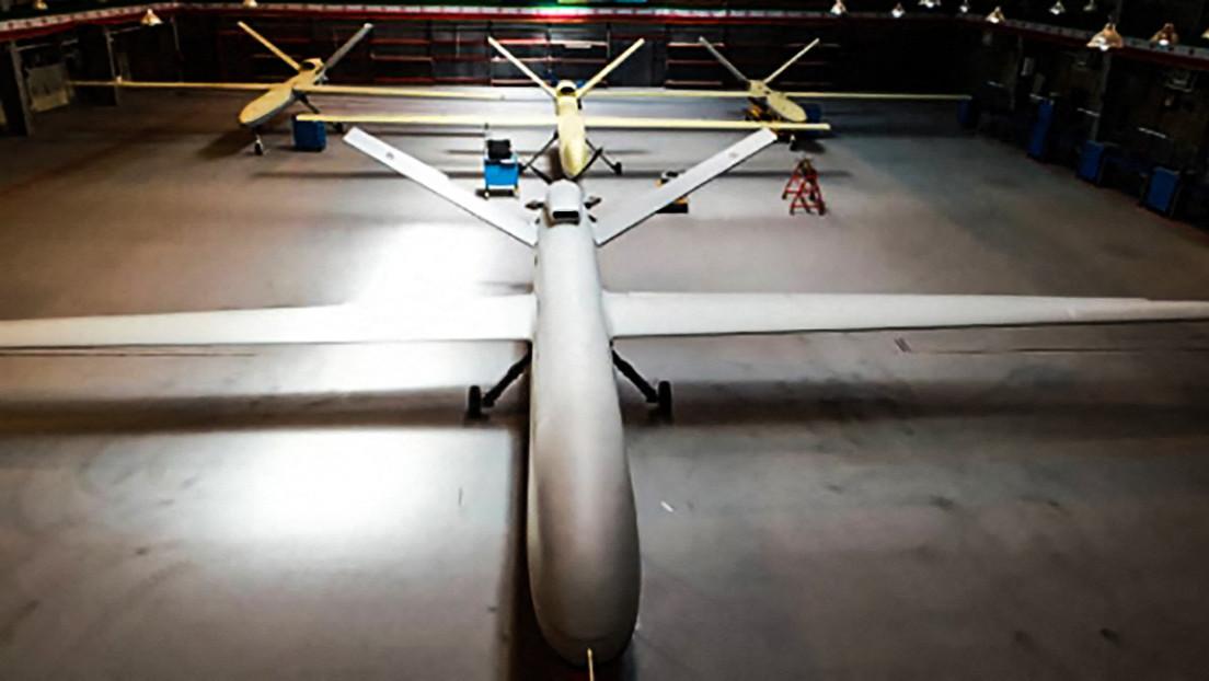 Irán muestra un dron de combate de largo alcance llamado «Gaza»