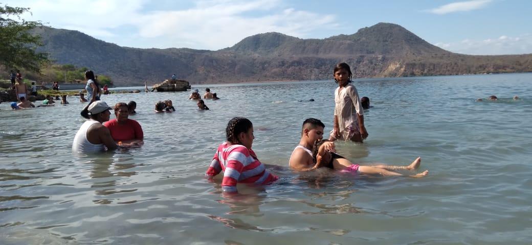 Xiloá: destino turístico concurrido este fin de semana largo