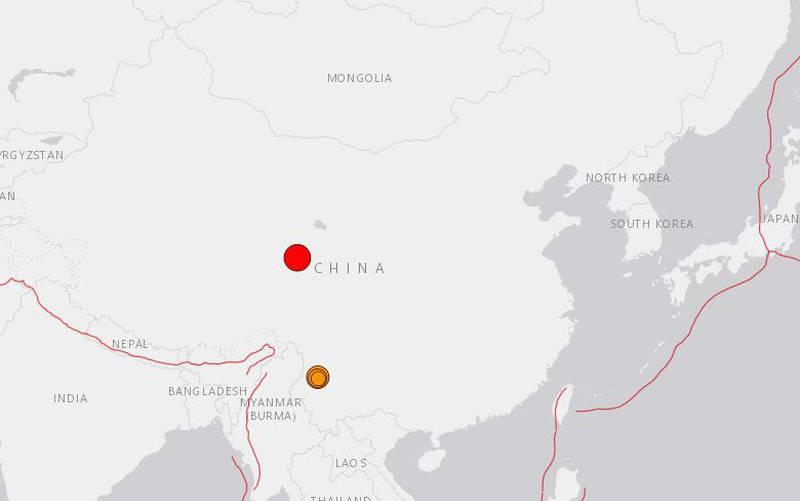 Fuerte terremoto de magnitud 7.4 sacude el noroeste de China