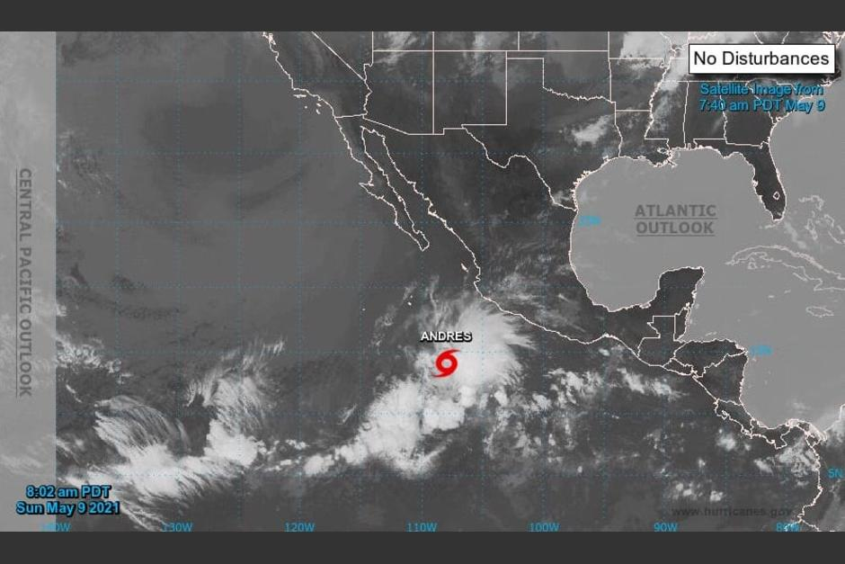 Tormenta Tropical Andrés no afectará Nicaragua