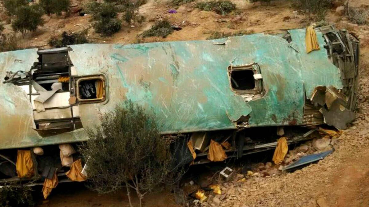 Al menos 27 muertos en un accidente de autobús en el sur de Perú