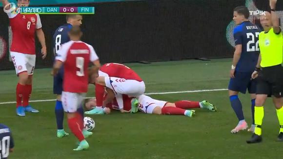 Christian Eriksen sufre un desmaya en partido de la Eurocopa