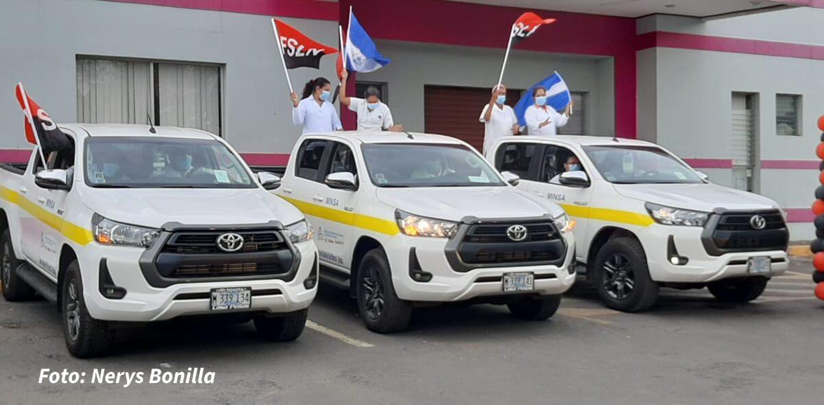 Entregan vehículos para unidades de salud de Nicaragua