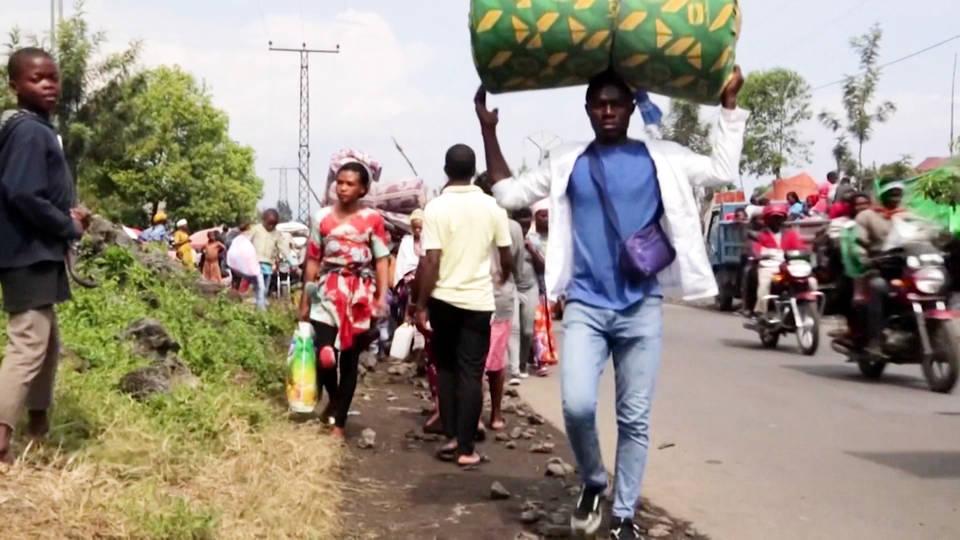 Miles de familias han sido evacuadas tras la erupción del volcán Nyiragongo en El Congo