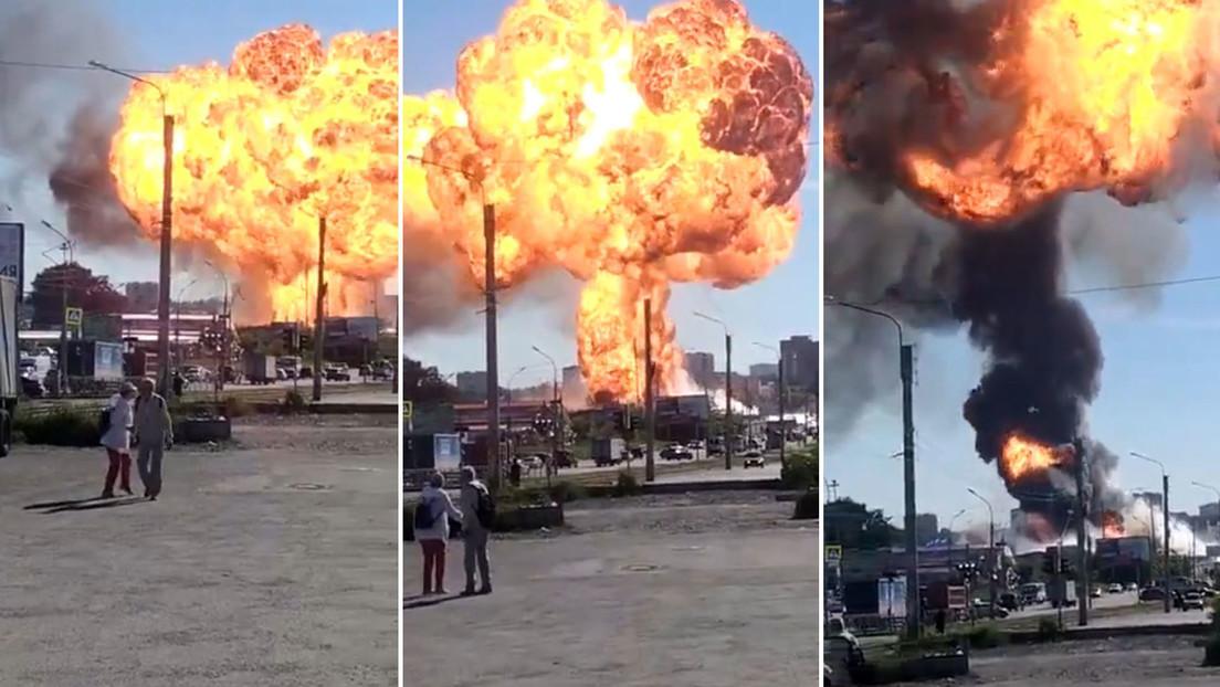 Al menos seis heridos por incendio en una gasolinera en Rusia