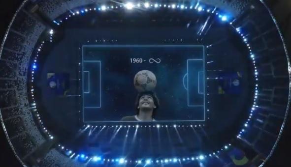 Emotivo homenaje a Diego Armando Maradona en la Copa América