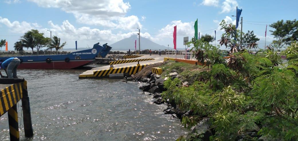 Autoridades portuarias inauguran la ampliación del muelle en el puerto Lacustre San Jorge