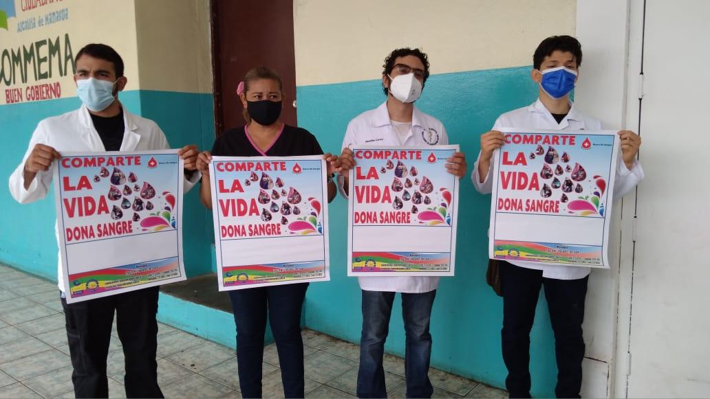 Realizan jornada para animar a los nicaragüenses a donar sangre