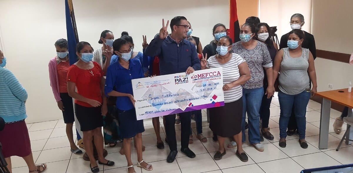 Mefcca otorga más de medio millón de córdobas en microcréditos en Managua