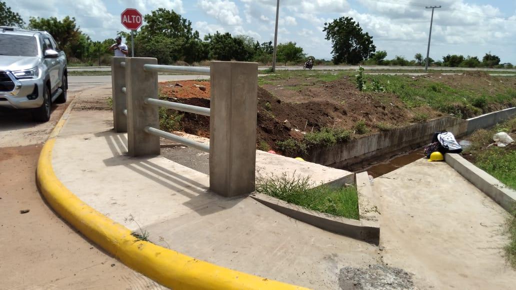 Realizan mejoramiento vial y drenaje pluvial frente a Ciudad Belén en Managua