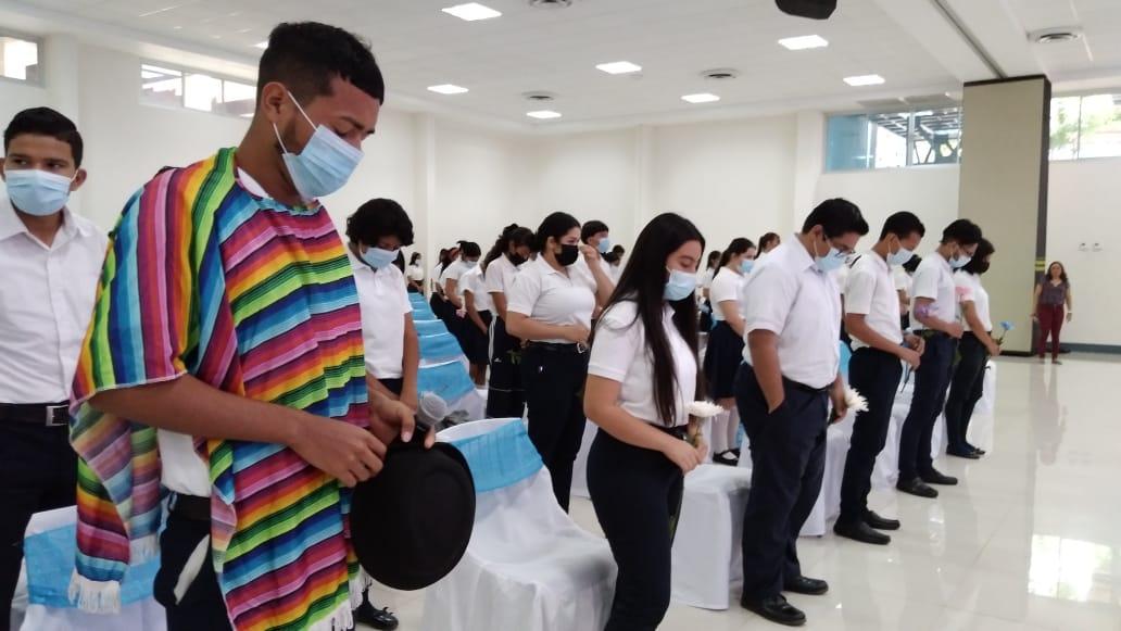 Estudiantes del Manuel Olivares conmemoran el natalicio de Carlos Fonseca Amador