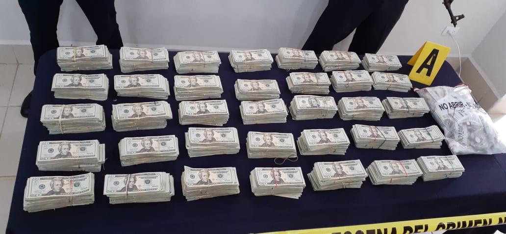 Policía Nacional arresta a 6 personas e incauta más de U$400 mil