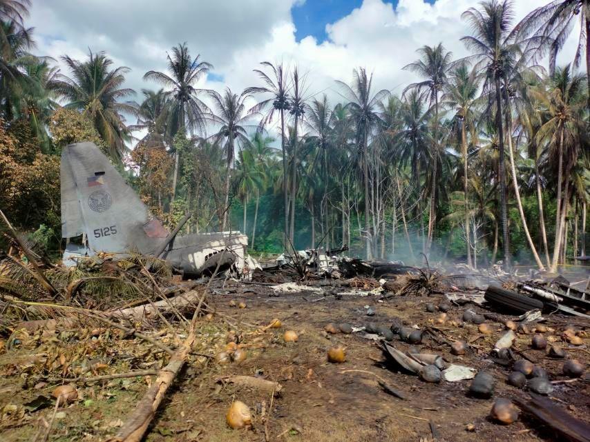 Accidente aéreo en el sur de Filipinas deja al menos 45 muertos y 53 heridos
