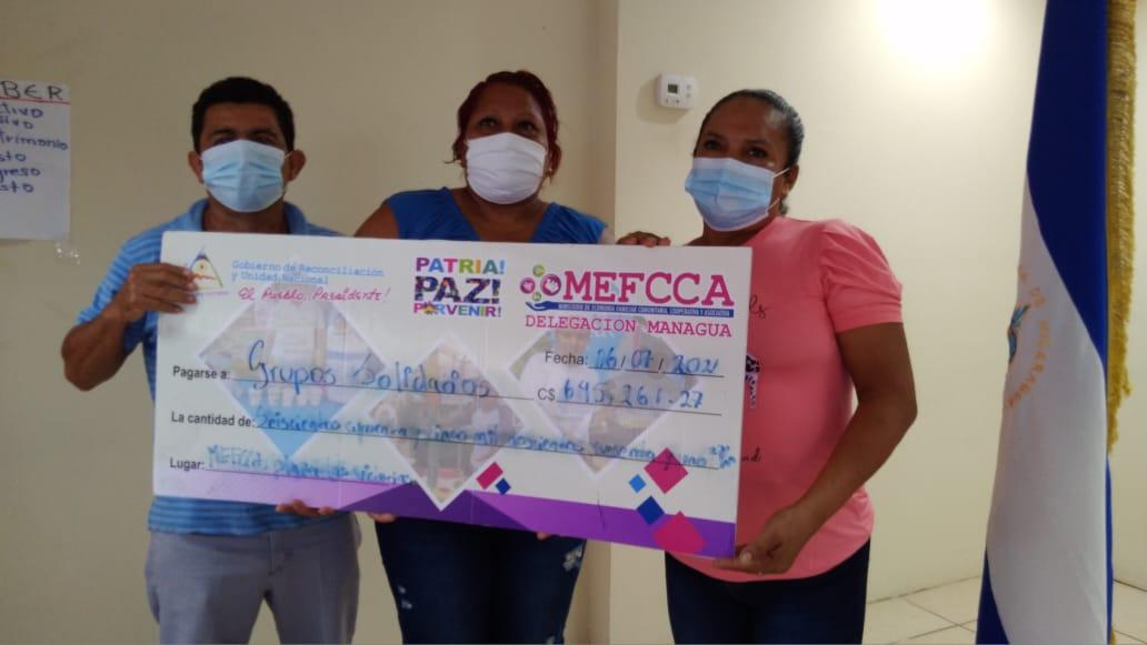 Emprendedores reciben financiamiento a bajos intereses en Managua