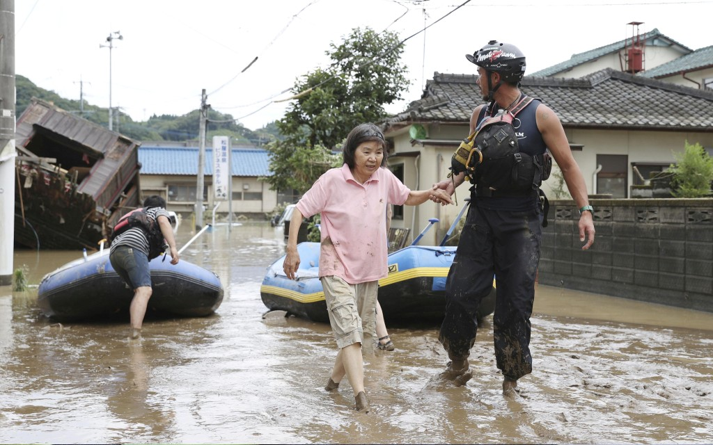 Evacuan más de 28 mil personas por lluvias e inundaciones en Japón