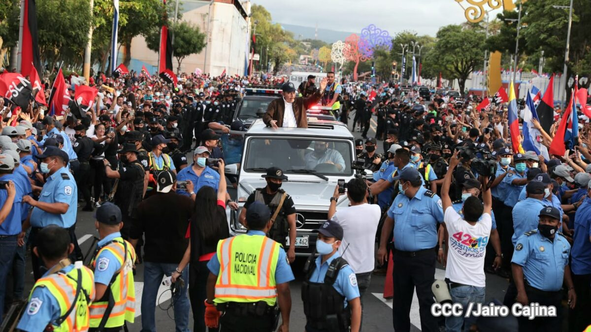 Familias conmemoran el 42 aniversario de la Revolución Sandinista en Managua