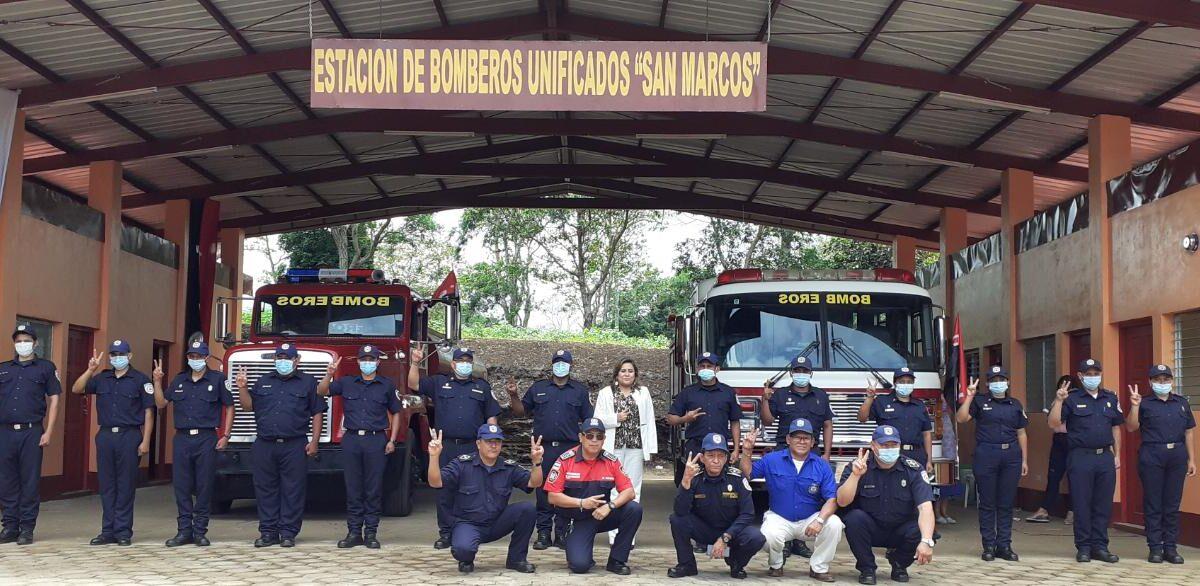 Inauguran nueva estación de bombero en San Marcos