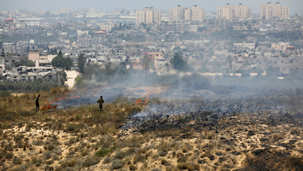 Israel ataca la Franja de Gaza tras el lanzamiento de más globos incendiarios