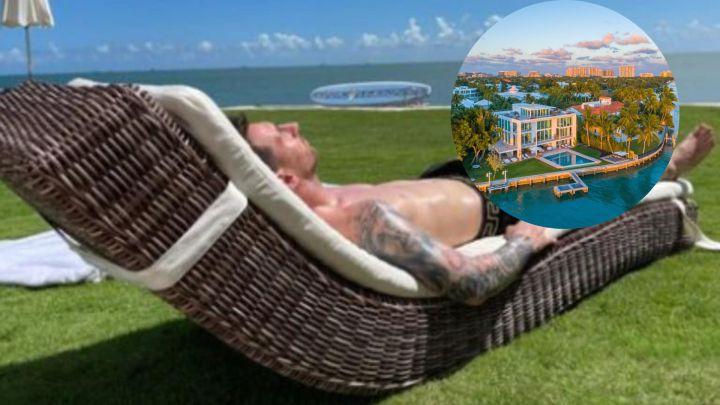 Lionel Messi de vacaciones en una espectacular mansión en Miami