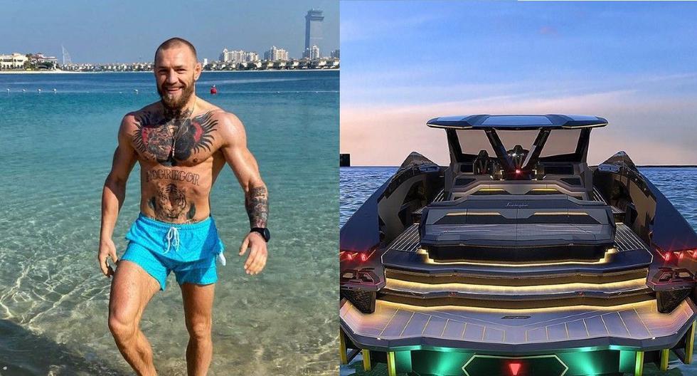 Conor McGregor exhibe su lujoso yate Lamborghini