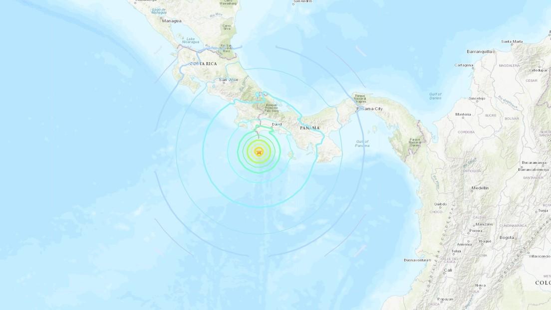 Fuerte sismo de magnitud 6,8 se registró frente a la costa de Panamá