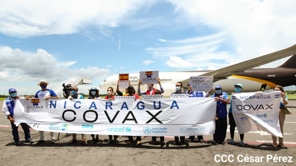 Nicaragua recibe más vacunas para la prevención de la Covid-19
