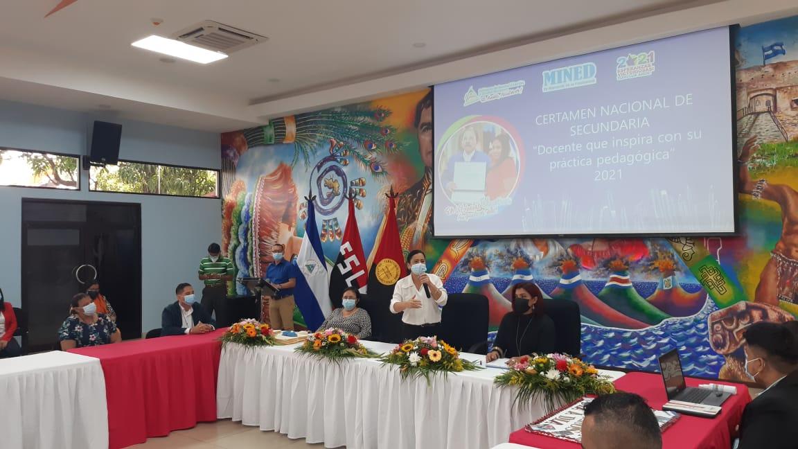 Realizan Certamen del Mejor Docente de Secundaria en Nicaragua