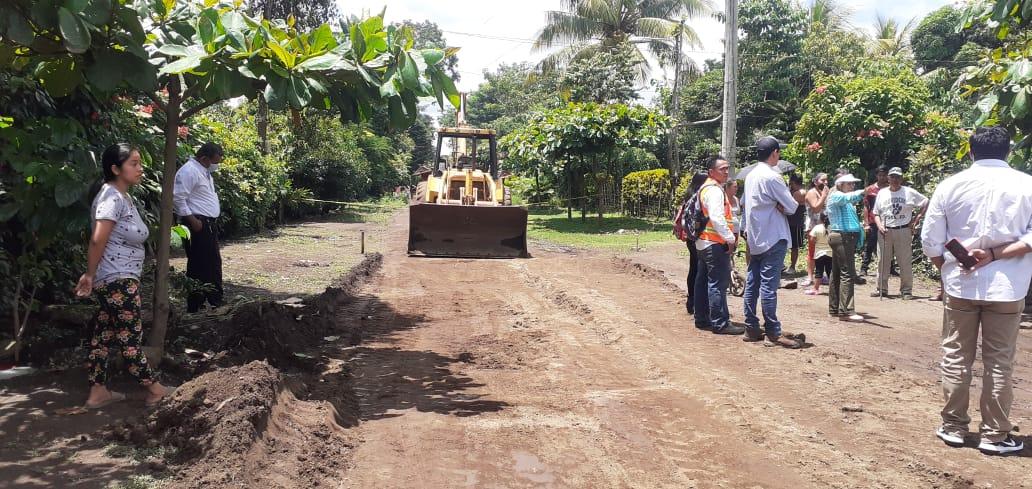 Inicia adoquinado en la comunidad Fátima de San Marcos, Carazo