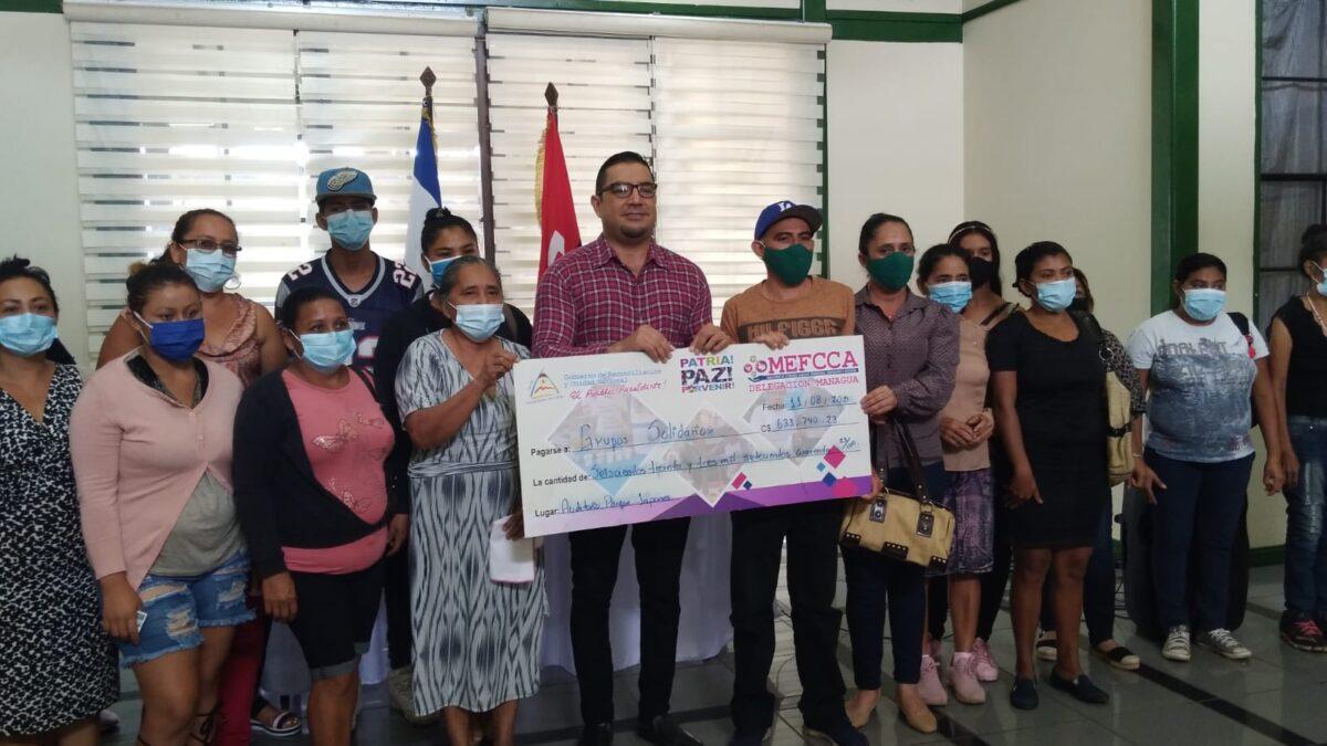 Mefcca ha capitalizado a 683 emprendedores de Managua en lo que va del 2021