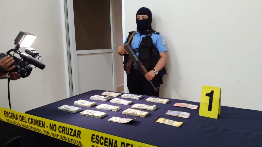 Policía Nacional detiene a individuo con más de 94 mil dólares en Managua