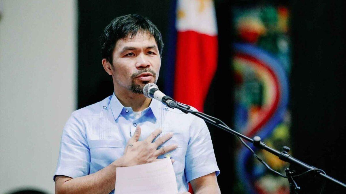 Manny Pacquiao participará como candidato a la presidencia de Filipinas en 2022