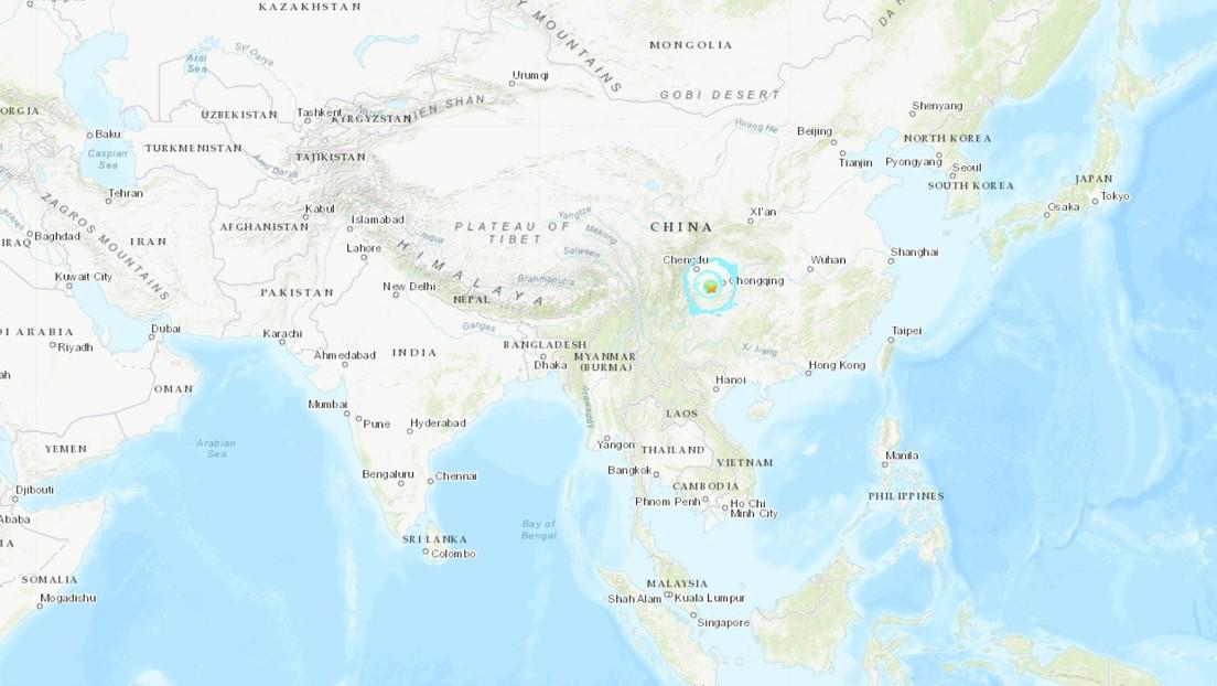 China: sismo de magnitud 6.0 sacude  la provincia de Sichuan