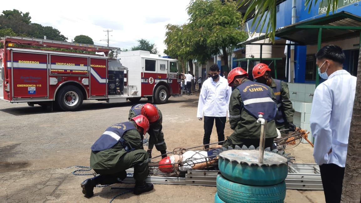 Ejercicio de Protección de la Vida en Colegio Villa Libertad, Managua