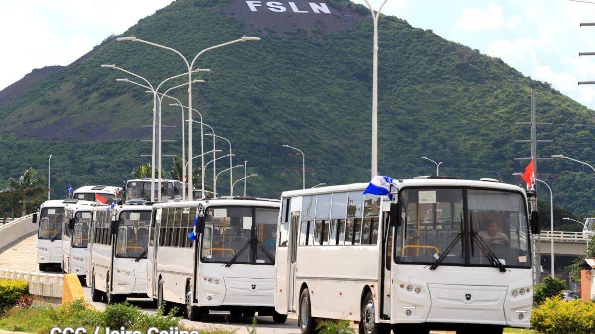 Nicaragua recibe 150 buses procedentes de la Federación de Rusia