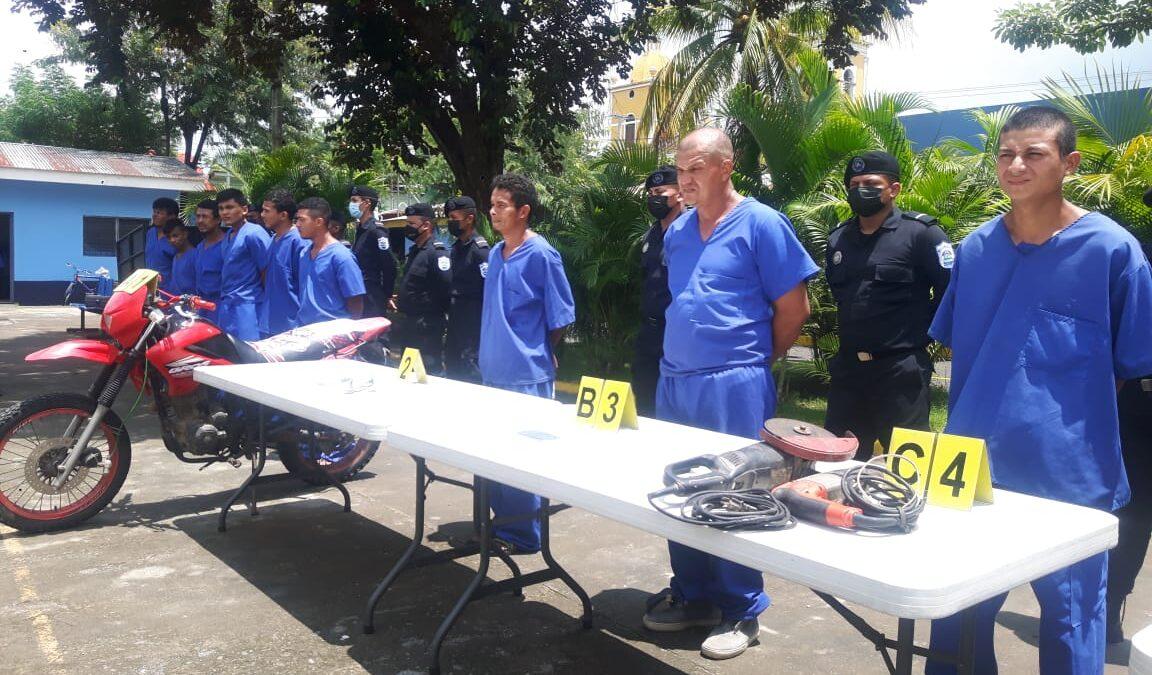 Policía Nacional captura a 22 sujetos en Chinandega por cometer delitos de alta peligrosidad