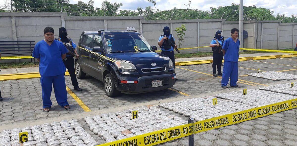 Policía Nacional realiza otro golpe al narcotráfico en Managua